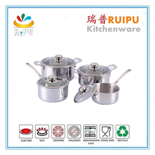 China Wholesale Custom Thermometer Cookware,industrial pots,german cookware set stainless steel