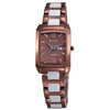 Hot Selling Lady's Chocolate Color Stainless Steel Back Water Resistant Watch