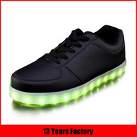 13 years factory made 2016 high quality unisex led shoes
