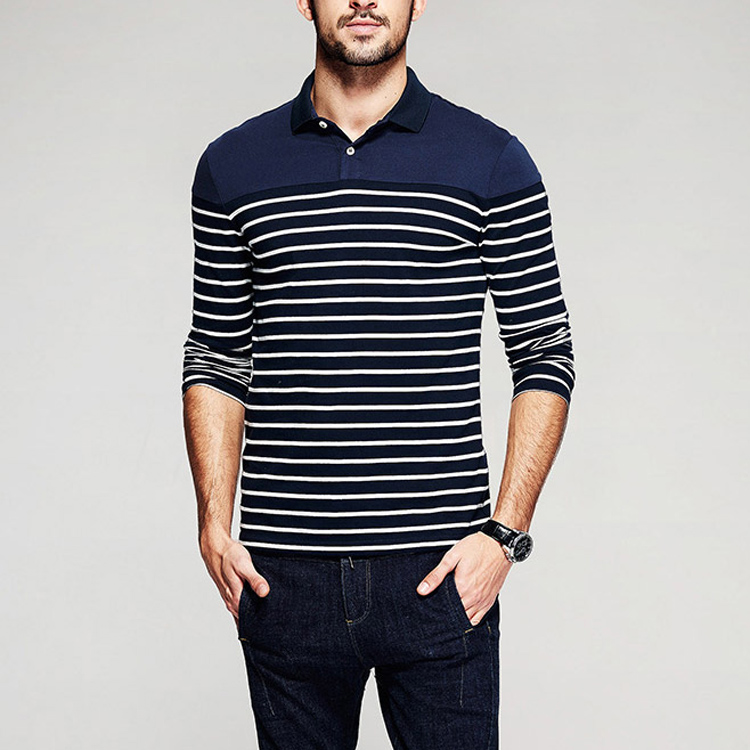 China factory turtleneck design polo shirt 100% cotton custom striped mens polo shirt t shirt for summer