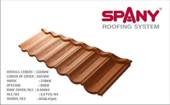 Stone Chip Coated Steel Roof Tiles