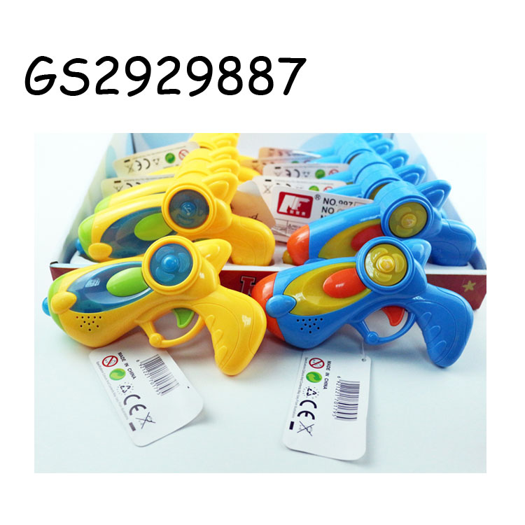 Cheap price cute plastic music space gun toy with sound and light for sale GS2929887