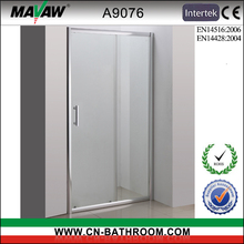 single door glass sliding shower screen A9076