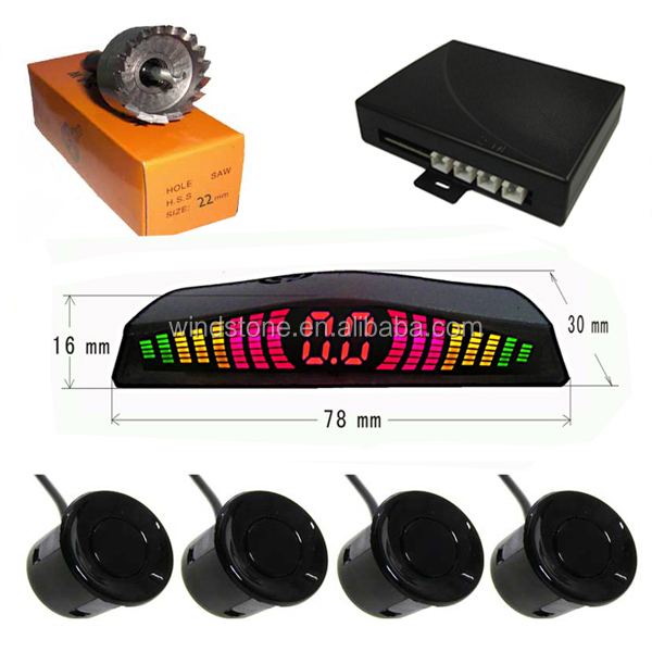 Hottest Selling in Brasil,Russia Cheap Car Parking Sensor System Rainbow LED Display