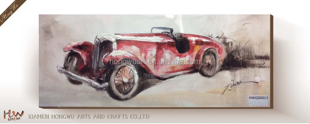 Customized Easy Jalopy Canvas Oil Painting Wall Art Pictures with Artists Names