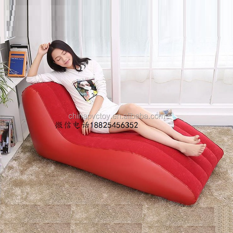 pvc inflatable product one seat sofa/inflatable airbed float mattress/inflatable red and purple airbed
