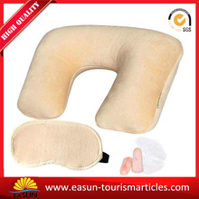 Nice flocked pvc inflatable pillow rectangle inflatable pillow inflatable neck pillow patent