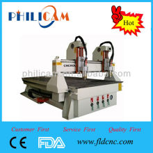 Hot sale two heads cutting machine cnc router engraving with two heads