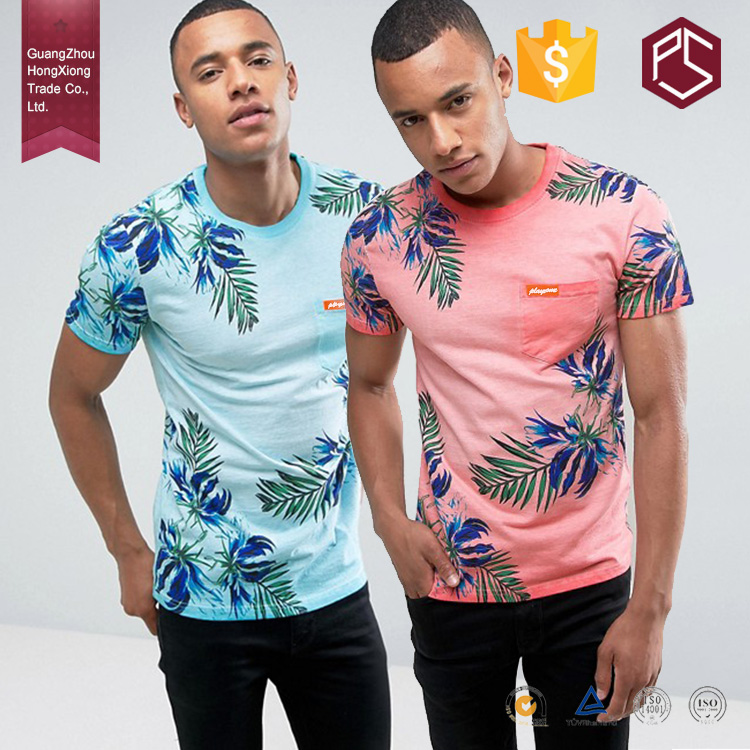 Hongxiong Custom Logo High Quality 100% Cotton Round Neck Short Sleeve Sublimation Printing Men Made In China T Shirt