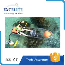 Transparent Crystal Clear caribe clear bottom kayak for sale 2 or 3 adults