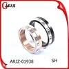 Mix Many Color black/rose gold/gold/silver jewelry couple rings for couple