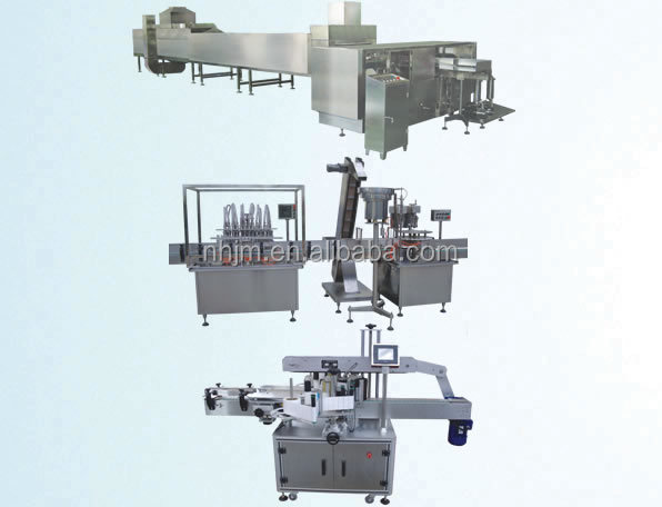 Fully automatic small packing oil filling production line