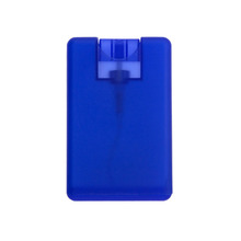 Empty Refillable travel size card perfume spray bottle for Travel and Gift
