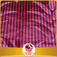Zhejiang 100% poly distributor home textile yarn dye burgundy color fabric printing