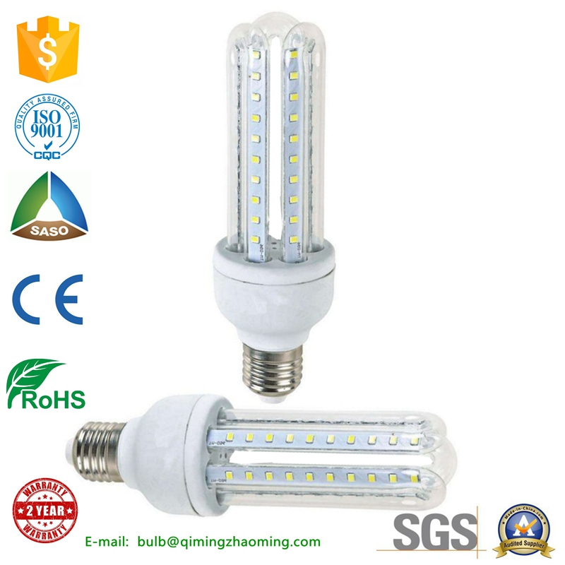 high lumen 5w 7w 9w 12w u shape led corn light,led light,led lamp with e27 e14 holder