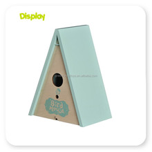 Customized small wood crafts bird house with low price plastic flying bird toy