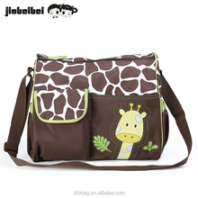 Mother tote baby nappy changing cartoon embroidery giraffe diaper bag