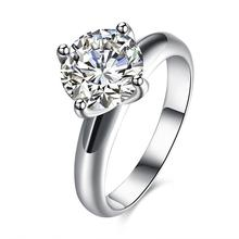Four claw stone Shining ring for wedding rings for women , diamond wedding rings