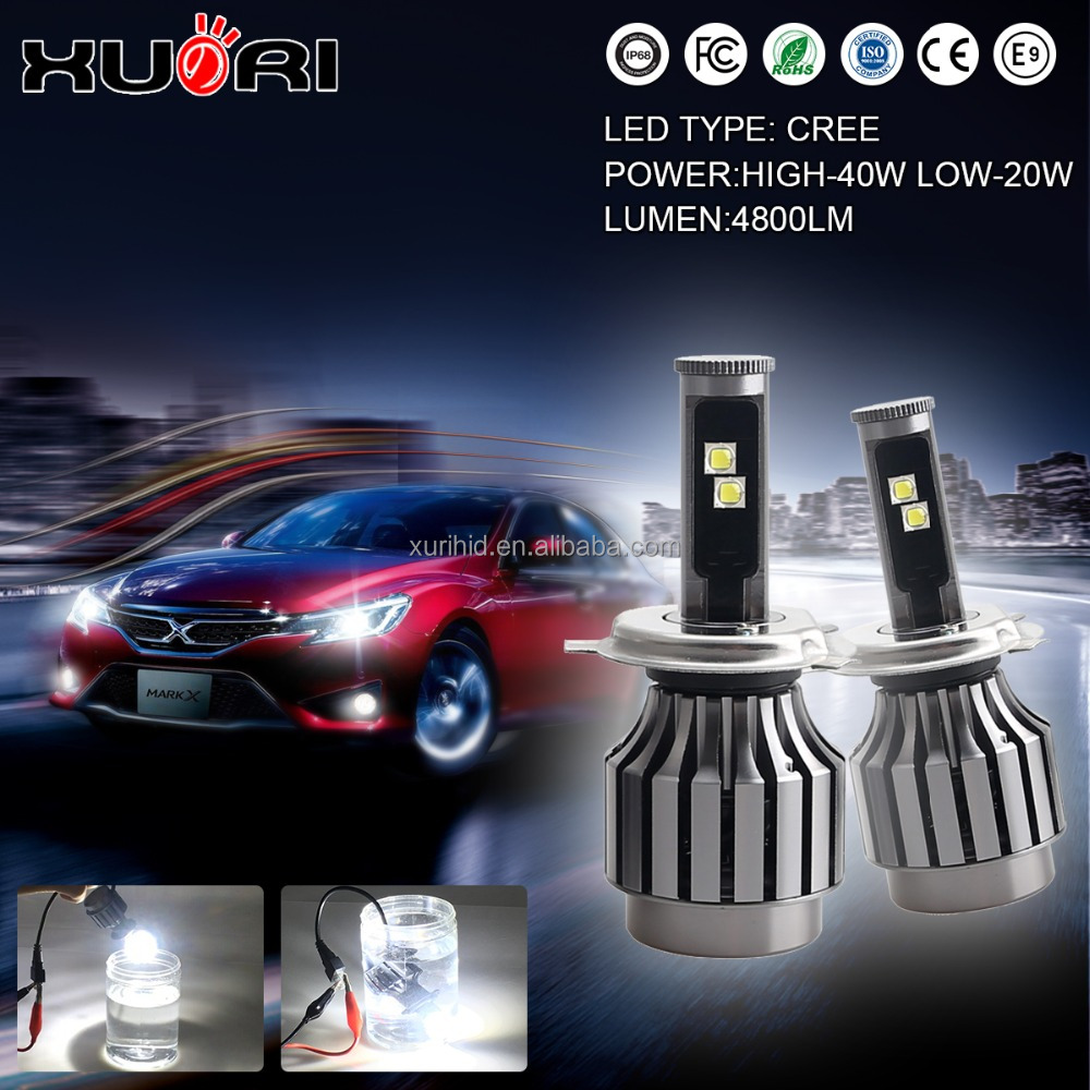 Directly Factory Supply 2S 30W H4-H/L Beam LED Headlight Auto H4 Motorcycle Car Led Headlight