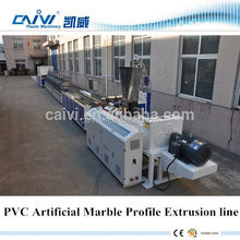 Pvc Artificial Marble profile Extrusion Line / pvc deco profile extrusion line/artificial marble production line