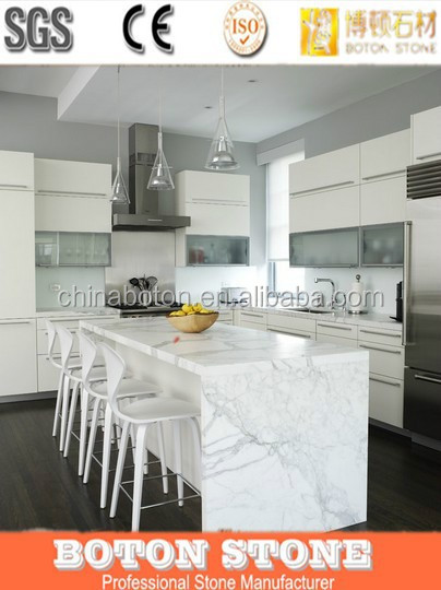 marbling design artificial stone translucent kitchen countertop
