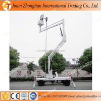 Out cherry picker lift platform diesel engine battery self propelled boom lifter