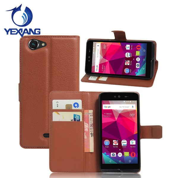 hot selling mobile phone flip leather case for blu dash x d010u back cover