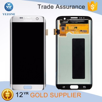 New Arrival OEM Silvery LCD Screen and Digitizer Assembly for samsung galaxy s7 edge G935