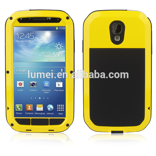 Waterproof Aluminum Metal Cover Case For Samsung Galaxy S4, for samsung galaxy s4 phone shell waterproof