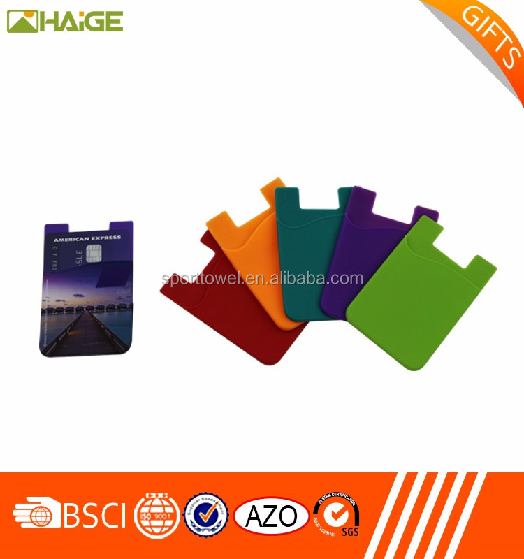 China supplier Custom Logo Promotional Silicon Phone Card Holder, Mobile Cover Holder