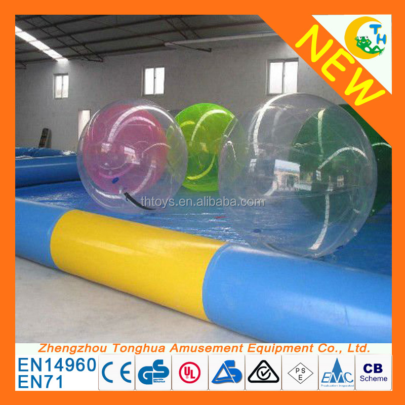 Summer water games inflatable water rolling ball, floating water ball, water walking ball