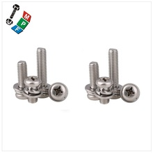 Made in Taiwan Phillips Pozi Torx Pan Head Tamper Resistant Split Lock Washers Assembled SEMS Screws