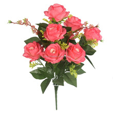 wedding and home decoration artificial flowers good looking silk blossom rose bouquet