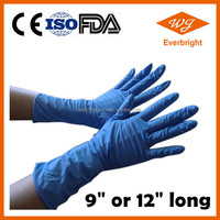 "12"" Disposable long sleeve Medical Examination Nitrile Gloves"