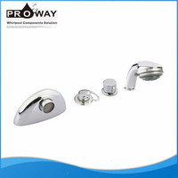Sanitary Fitting 4 Holes Bath Tub Faucet Brass Waterfall Bathroom Fittings and Shower Faucets