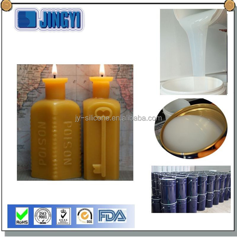 Flexible soft RTV-2 silicone rubber for candle mold making