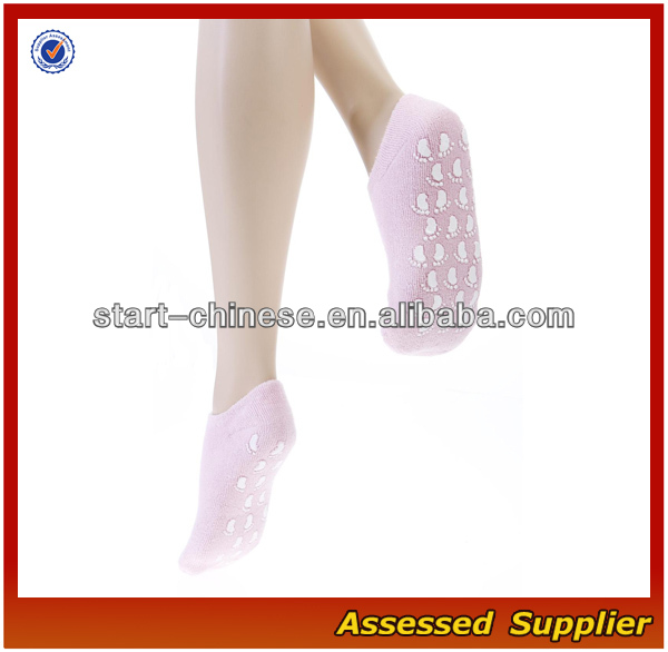 Pink Cozy Color Soft Women No Show Socks/Silica Gel On Bottom Women No -Slid Socks