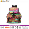 Vintage Retro Floral Ladies Canvas Backpack School Bag for Teens Girls Students