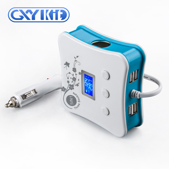 GXYKIT Hot selling high technology 5v 2.5a mini usb car charger with LED display