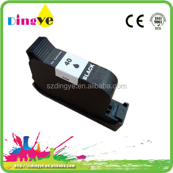 Wholesale Dealer Remanufactured Inkjet Cartridges For HP 40 Black Origina Printerl Ink Cartridge