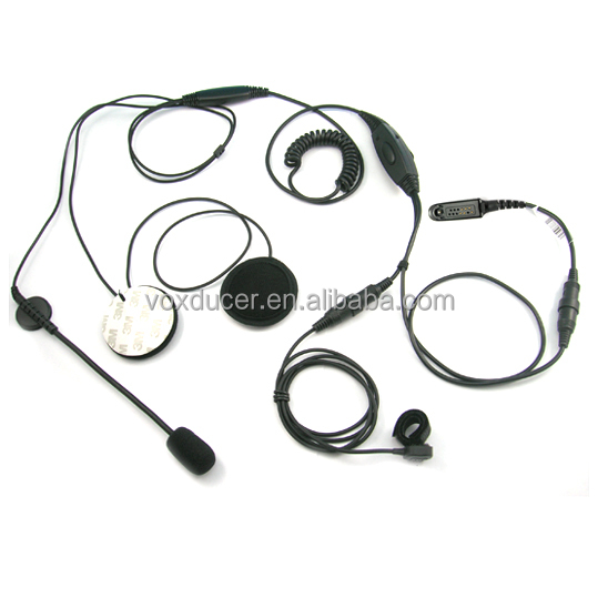 [M-E1663-328]Motorcycle Helmet headset 2 kits with microphone in helmet motorcycle for Motorola GP140 GP320 GP328 GP329 GP338