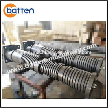 Kraussmaffei 70KK rigid PVC pipe extrusion machine screw barrel