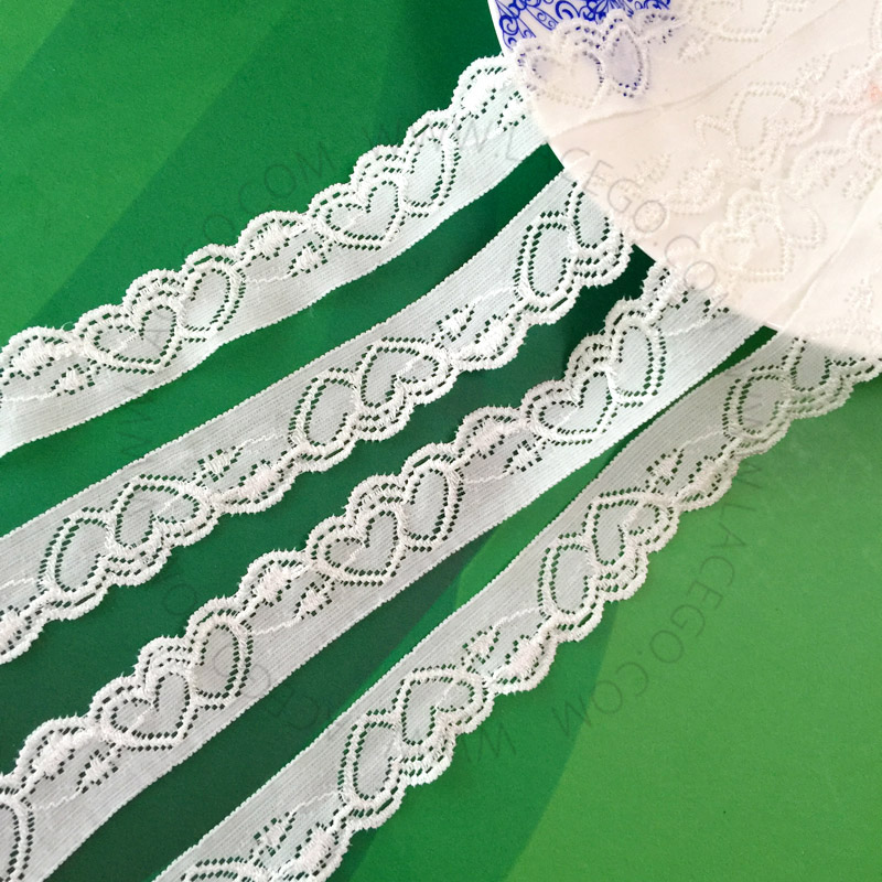 2.5cm heart-shaped Elastic Lace Trimming Garment <strong>Accessory</strong>