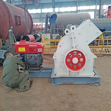 Quartz Rock Stone Crusher Machine Hammer Mill With Diesel Engine