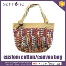 Garment Advertising Canvas Bag Red White Striped Canvas Bag