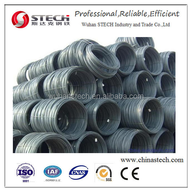 SAE1008 wire road, low carbon wire rod steel coil hot rolled steel wire rod in coils
