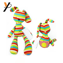 Baby Rabbit Rainbow Color Knitted Fabrics crochet toy