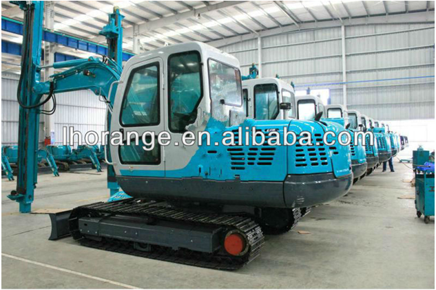 hydraulic pile driving machine / bored pile earth auger