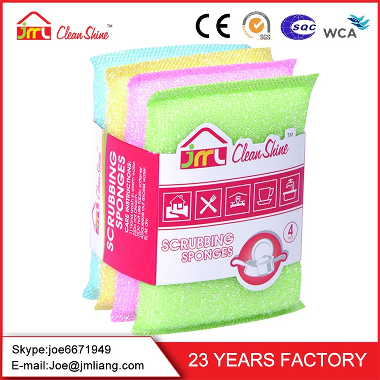 Factory Direct Wholesale Kitchen Usage Scrubbing Sponge Heavy Duty Cleaning Scouring Pads