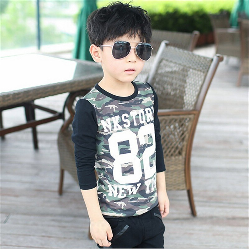 DB011 baby clothes wholesale price kids clothes 2016 camouflage boy t-shirt